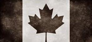 drapeau canada n&b